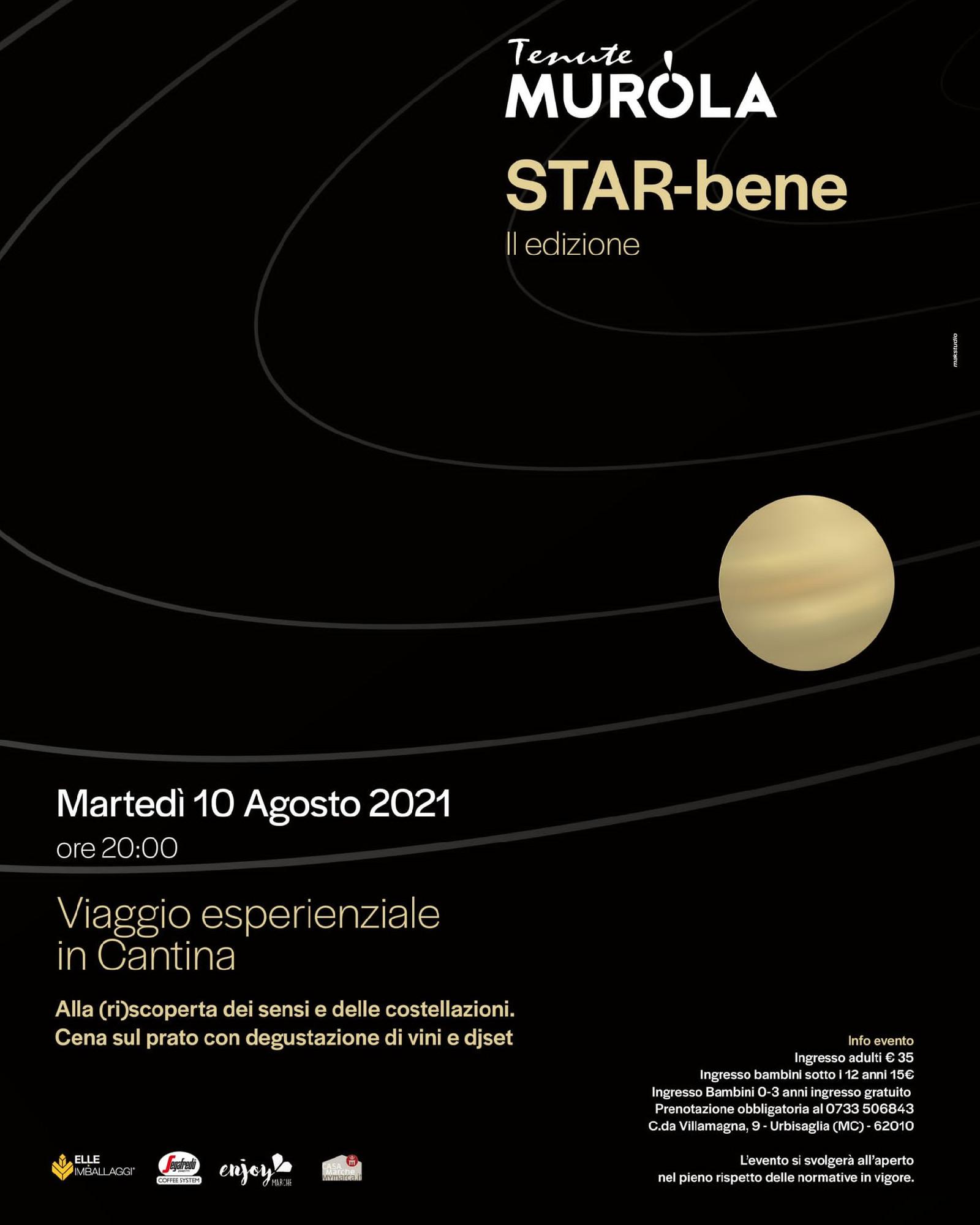 STAR-bene II edizione — Viaggio sensoriale su Giove - Tenuta Murola