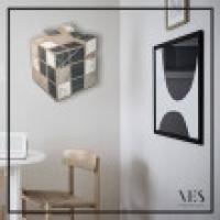 Kubik - VES design  - Moderno orologio da parete in legno 100% made in Italy