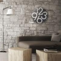 LUBALIN nero VES design made in Italy Grande Orologio parete