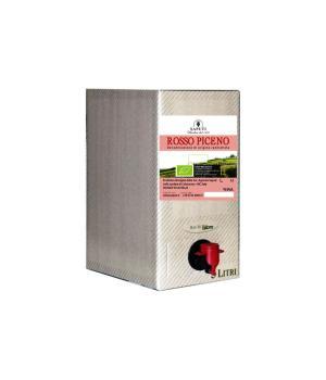 Bag in box Saputi Rosso Piceno DOC vino biologico certificato
