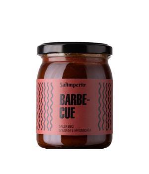BARBECUE salsa BIO speziata e affumicata Salimperio brand Rinci