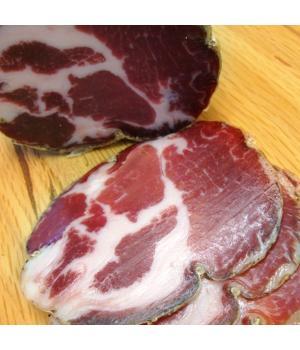 LONZA oder Capocollo Scheibe Recchi aus italienischem Schweinefleisch