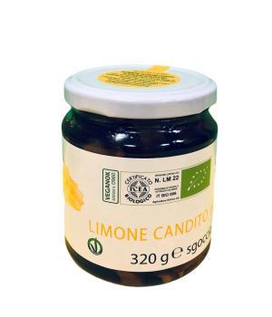 Kandierte Zitronenschale in Filets und Sirup italienische Spezialität