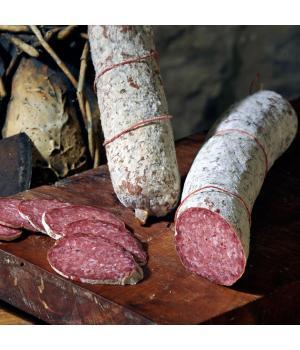 SALAMI CASTELLANO Italieni Norcineria Alto Nera Alte Methoden, Fleischqualität