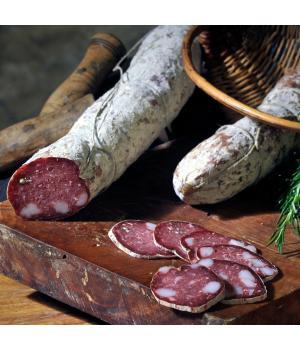 Salame lardellato Alto Nera  norcineria tradizionale delle Marche