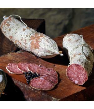 SALAME al GINEPRO Norcineria Alto Nera il sapore di bosco delle bacche