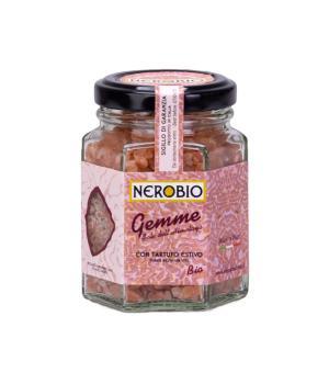 Himalaya pink salt with dehydrated summer truffle