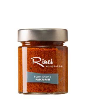 PESTO rosso e PACCASASSI Rinci salsa finocchio marino e pomodori secchi