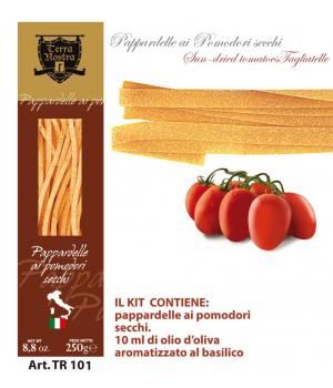Tomatoes PAPPARDELLE Terra Nostra flavored egg pasta