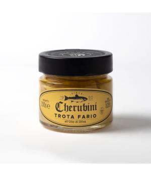 Trota Fario sottolio oliva Cherubini Troticoltura a Visso nei monti Sibillini