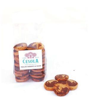 Shortbread biscuits variegated with cocoa Forno Césola refined sablé bis