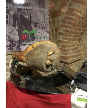 PROSCIUTTO CRUDO con osso Recchi stagionato 18 mesi maiale Italiano