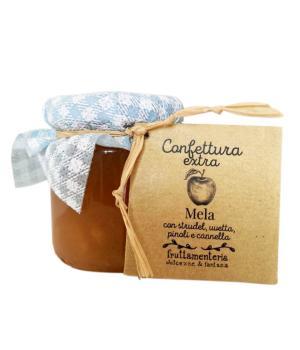 Mela uvetta pinoli cannella Fruttamenteria confettura extra frutta italiana
