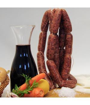 SALSICCE fresche di fegato Recchi Carne di maiale italiano lavorata artigianalmente