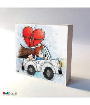 i LOVE you stampa Fine-Art su legno - Facciolli Laboratorio artistico 1983