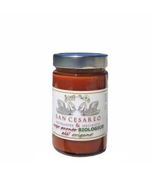 SUGO con foglie di origano Bio San Casareo Pomodoro italiano pronto all'uso