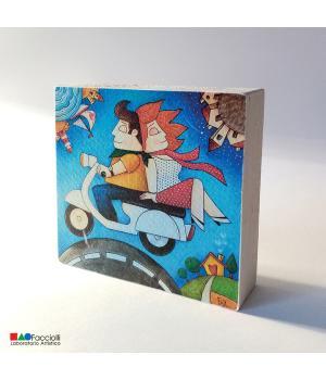 VIA con TE stampa Fine-Art su legno - Facciolli Laboratorio artistico 1983
