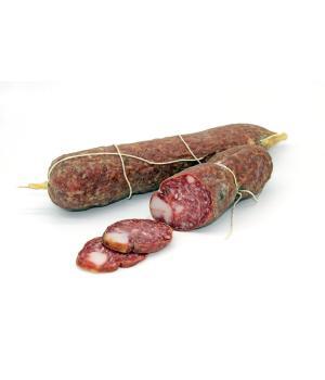 SALAME mit Schmalz Puzielli Typische italienische salami aus Schweineflei