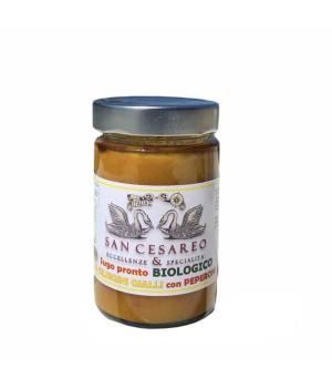 CILIEGINI gialli e peperoni San Casareo SUGO pronto italiano Biologico