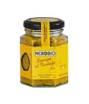 SENAPE al TARTUFO BIO Nerobio SALSA GOURMET Specialità alimentare italiana