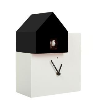 ETTORE 2057 bianco/nero Orologio cucu da parete e tavolo Diamantini Domeniconi