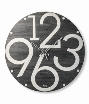 LUBALIN black VES design made in Italy Large Ø 60 Wall clock