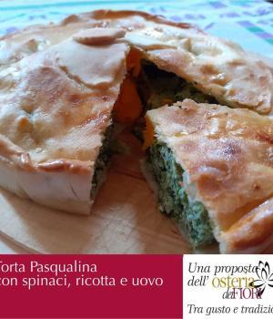 Torta Pasqualina con spinaci e uovo