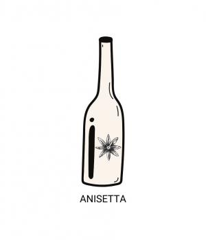 ANISETTA MELETTI 70cl Excellent aromatic intensity 34° Marche speciality