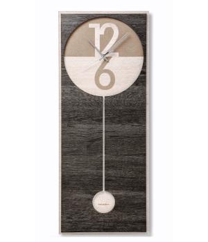 PENDOLA dark VES design made in Italy Contemporary design wall clock