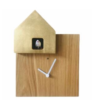 ETTORE 2057 rovere/foglia oro Orologio ideale arredo casa Diamantini Domeniconi