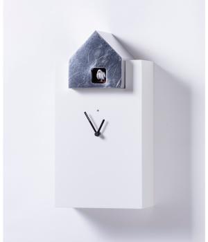 ETTORE 2058/F bianco foglia argento Orologio cucu Diamantini e Domeniconi