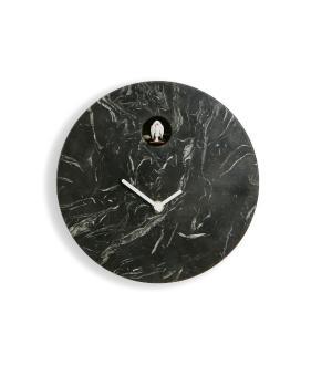Cioni marmo nero Marquina orologio cucu a parete Domeniconi