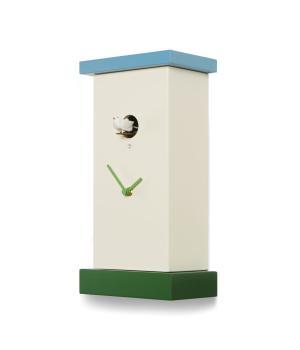 Supercucu blu/verde orologio a cucu' artigianale Domeniconi