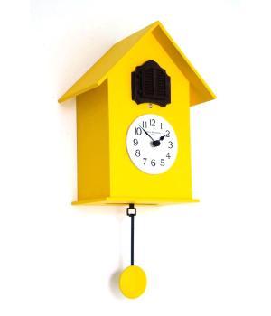 216 giallo Orologio con pendolo e cucu design moderno F.lli Domeniconi