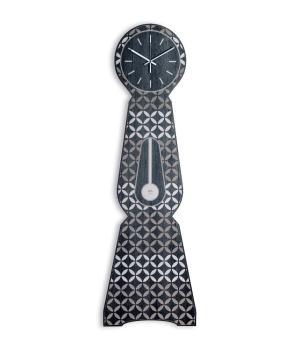 Moraklocka Rice Black Grande orologio a parete stile pendolo made in Italy