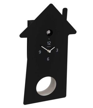 MERIDIANA 219 nero Orologio cucù e pendolo bianco