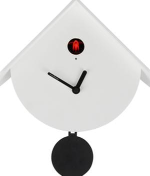 TITTI 2077 weiß Attraktives Design für die neue Kuckucksuhr