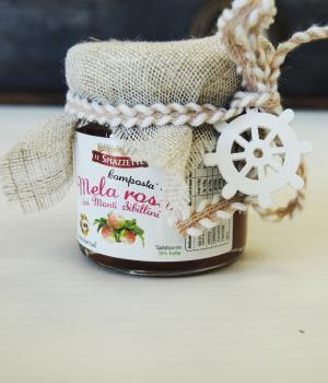 Bomboniera per battesimo: composta di mela rosa dei Sibillini prodotti tipici de