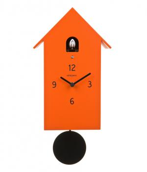 ZUBA arancio orologio da parete linea Meridiana in legno laccato F.lli Domeniconi