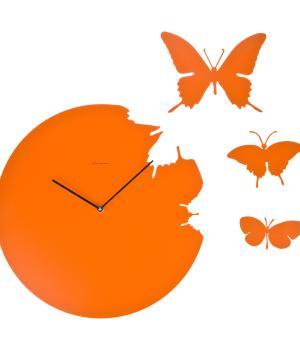 BUTTERFLY arancio Orologio con kit 3 farfalle Domeniconi