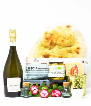 Portonovo kit for 4 gourmet take-away aperitifs on the beach of typical products