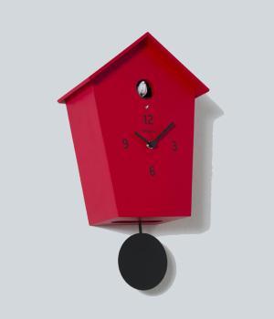 MERIDIANA 233 rot Wand Kuckuckuhr mit schwarz pendel