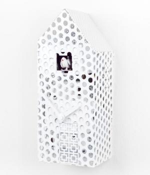 OraOra 2016 bianco Orologio a cucu forma casetta in ferro Diamantini Domeniconi