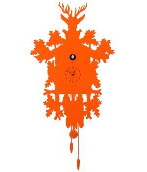 CUCU 373 arancio Diamantini Domeniconi Orologio con cucu dal design moderno