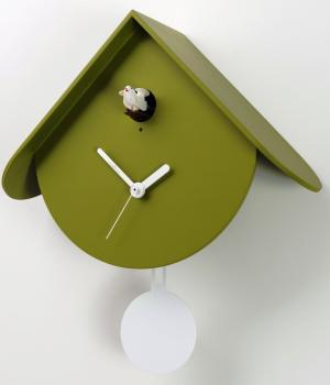 TITTI 2077 verde duchamp Moderno orologio cucu e pendolo