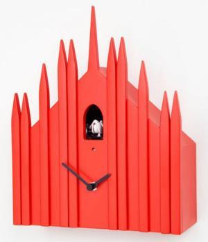 DUOMO red Cuckoo Clock Diamantini and Domeniconi