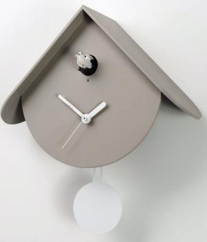 TITTI 2077 grigio talpa Moderno orologio cucu' e pendolo
