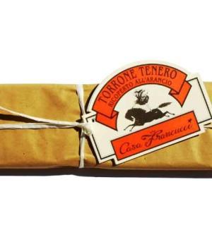 TORRONE ricoperto cioccolato arancio Francucci produzione artigianale