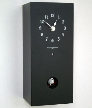 ARCOIRIS 230K matt black Cuckoo Wall and Mantel Clock