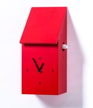 HALF TIME rosso Sorprendente orologio a cucu' da parete o tavolo